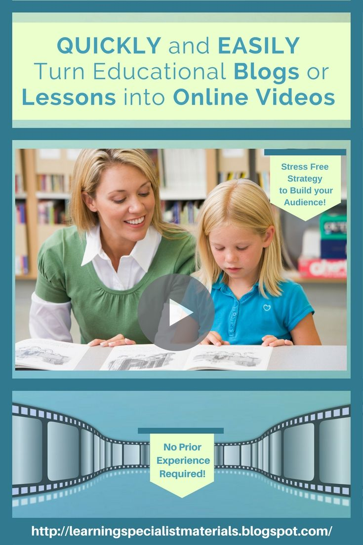 Learning Specialist and Teacher Materials - Good Sensory Learning: How to do a Successful Video Blog Quickly and Easily.  Learn how to take any blog, text or lesson and turn it into a professional looking video!!