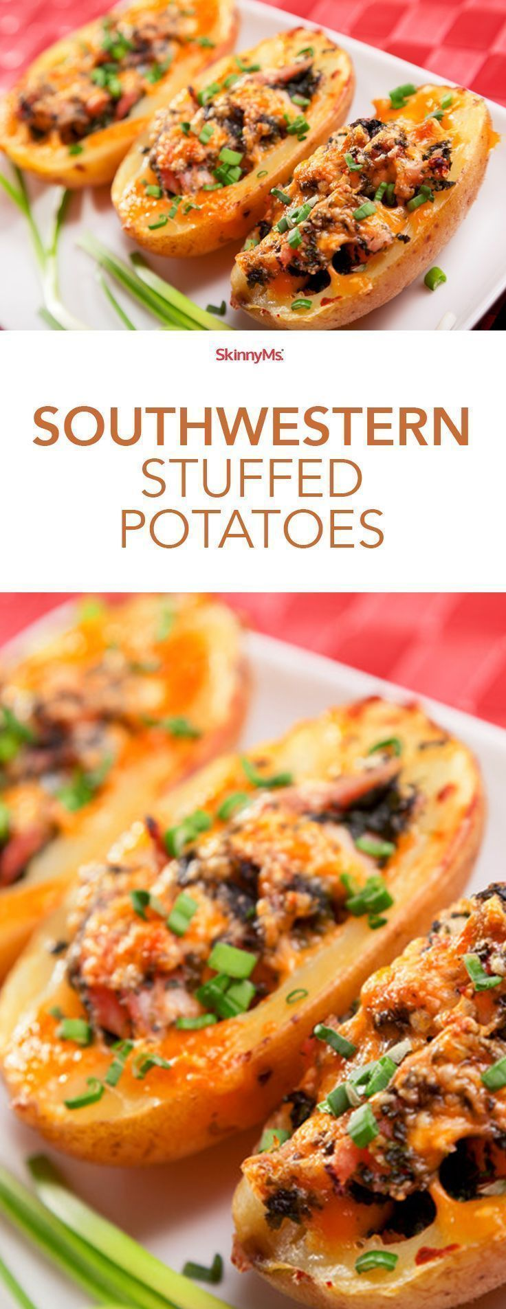 Hearty and guilt-free, these Southwestern Style Potatoes add excitement to any meal! #skinnyms