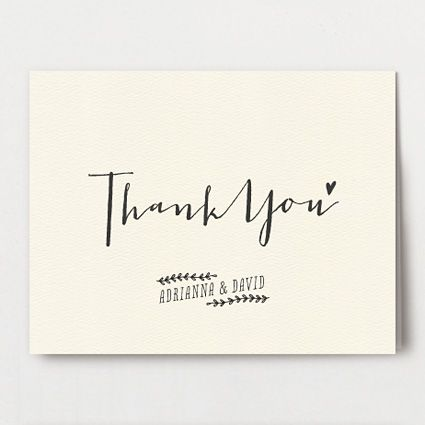 modern calligraphy. love the 'thank you' type. I worry a little bit about it being a little bit difficult to read but I love the character of it