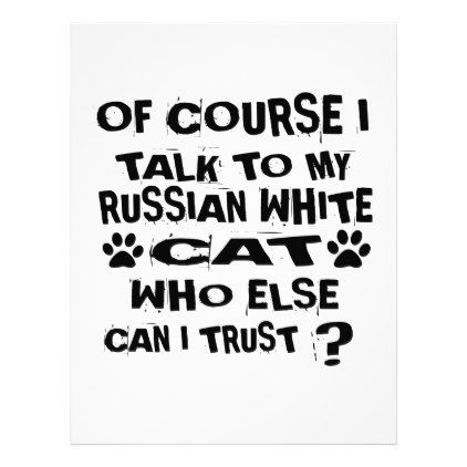 OF COURSE I TALK TO MY RUSSIAN WHITE CAT DESIGNS LETTERHEAD - white gifts elegant diy gift ideas
