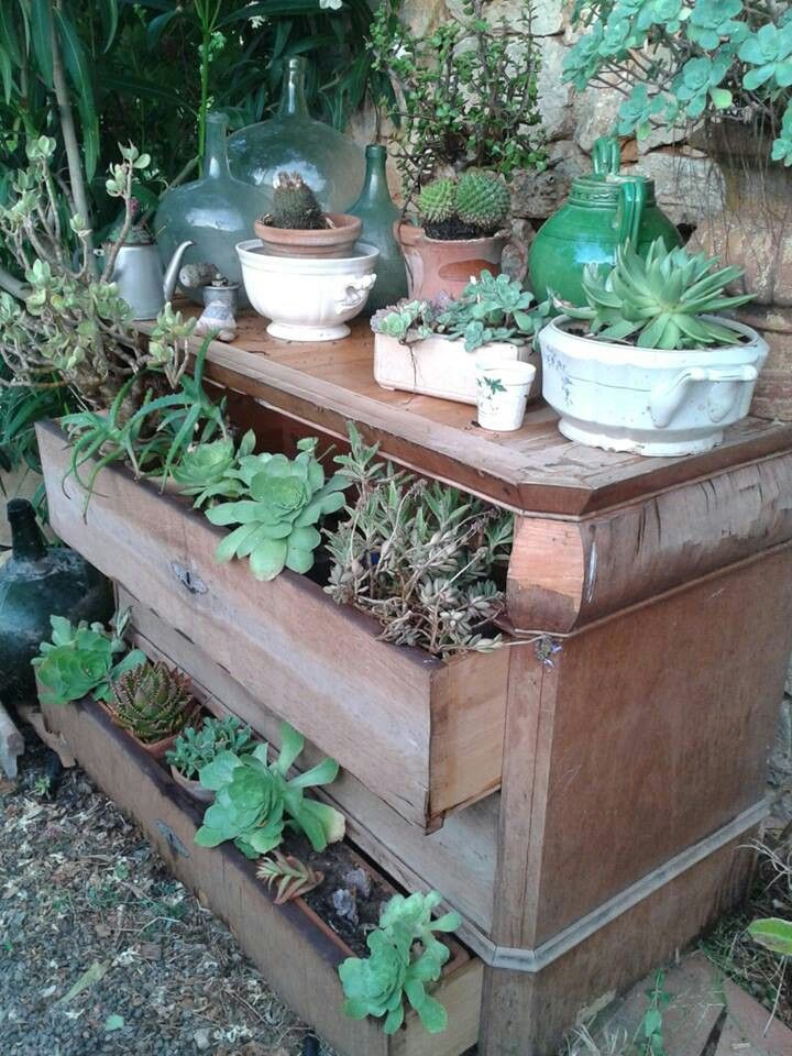 Jardinera maravillas de balcon pinterest jardineras - Decoracion vintage reciclado ...