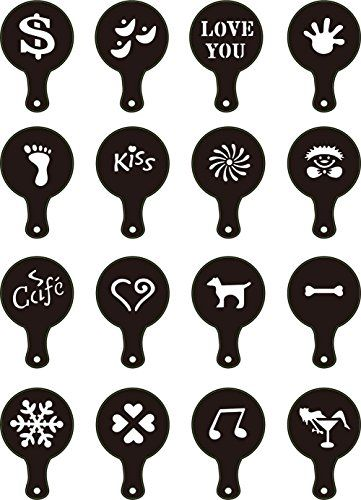 TININNA 16 Pcs Coffee Stencils Cappuccino Barista Latte Art Template Art Stencils Strew Flowers Pad Duster S Great for make fancy Cappuccinos, Coffee, Lattes or Hot Chocolate http://www.comparestoreprices.co.uk/december-2016-3/tininna-16-pcs-coffee-stencils-cappuccino-barista-latte-art-template-art-stencils-strew-flowers-pad-duster-s.asp