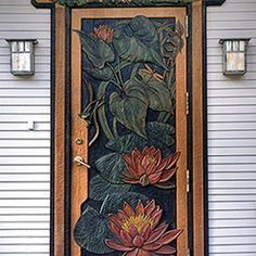 Carved Door by Amber Jean, via woodworkessence.com