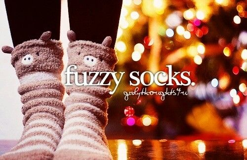 Fuzzy socks! Put some lotion on your feet them slip on your socks and your feet become soft and silky.