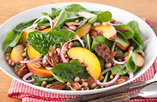 Oven Lovers: Black Eyed Pea and Peach Salad