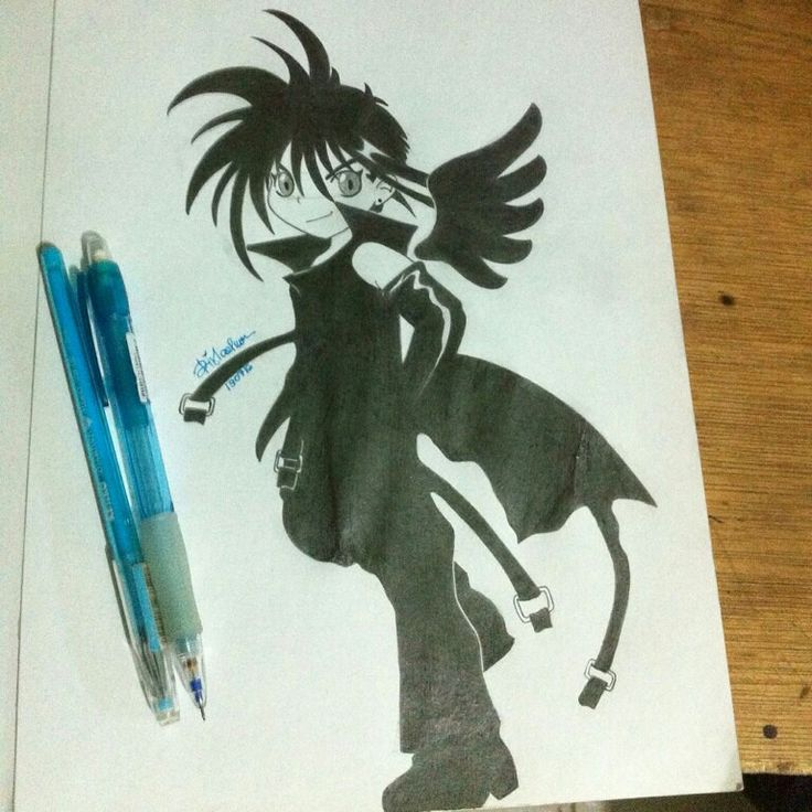 D. N Angel sketch Darkmousy by Key