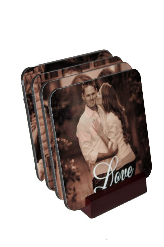 CHRISTMAS PHOTO GIFTS- Personalized  Photo Coasters-Great Housewarming,Wedding,Birthday gifts to give.