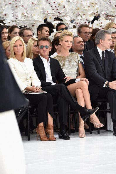 Crown Princess Marie Chantal of Greece Sean Penn Charlize Theron and... Foto di attualità 451803314