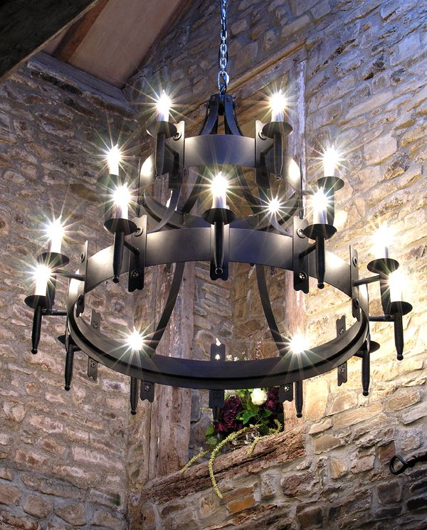 Wrought Iron Chandeliers Metal Art Meval Gothic Goth Yard Middle Ages