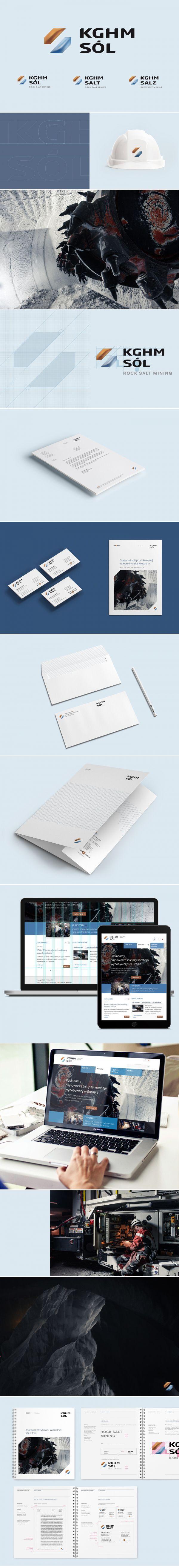 KGHM Sól Salt branding on Behance. Design by nuostudio.pl