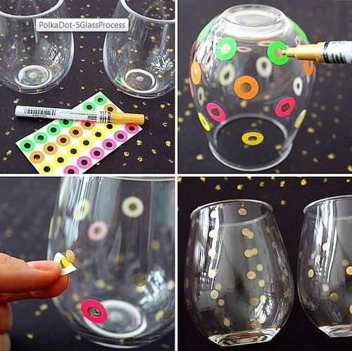 A super easy polka dot DIY by Brit. Great idea for little gifts!