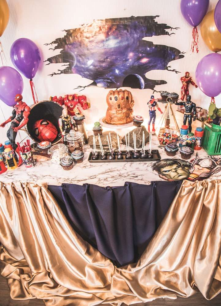 Infinity War Birthday Party Ideas In 2019 I W Party Pinterest