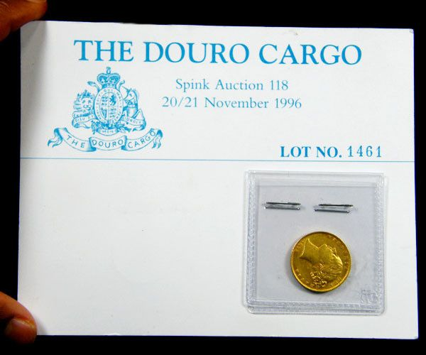 COIN IN ORIGINAL SPINK AUCTION LISTING shipwreck gold coin , gold coin