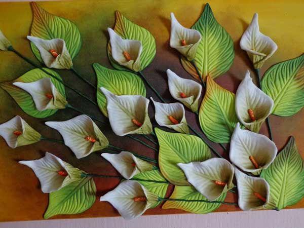 Folhas de Eva para Arranjo Floral sem Frisador