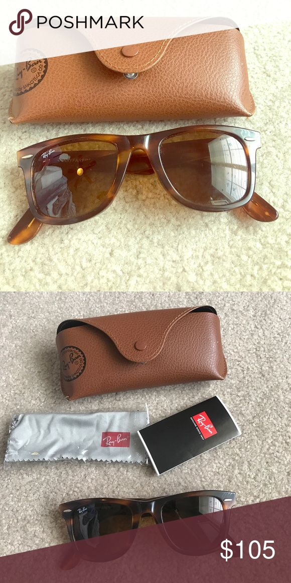 Tortoise Wayfarer Ray-Bans Excellent condition! Send me an offer !!! Ray-Ban Accessories Sunglasses