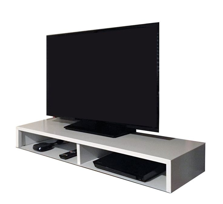 Tabletop TV Stand For Flat Screen (White) | RIZERvue