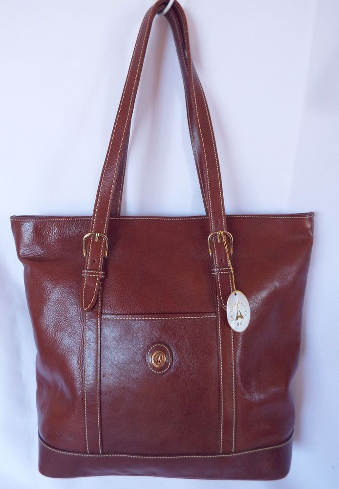 LA TOUR EIFFEL Brown Leather Tote Shoulder Bag Purse Handbag NEW  | eBay