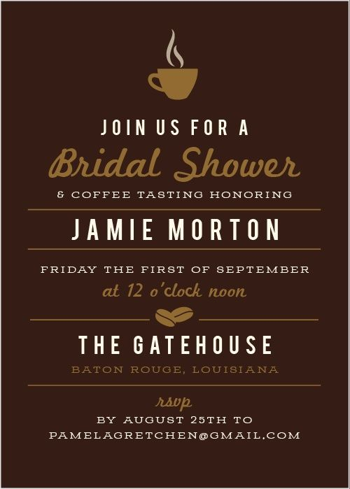 8c9d6c6d3e3f Love is Brewing Bridal Shower Invitations -- FYI all colors