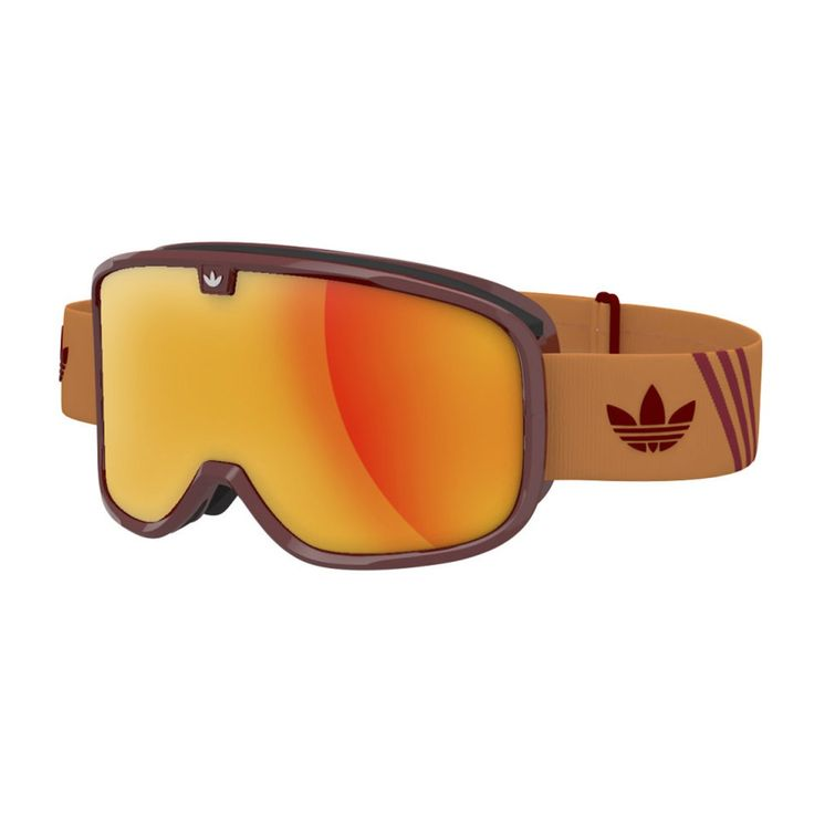 Men's Adidas Originals Goggles - Adidas Originals Rookie Goggles. Red/Orange - Red Mirror