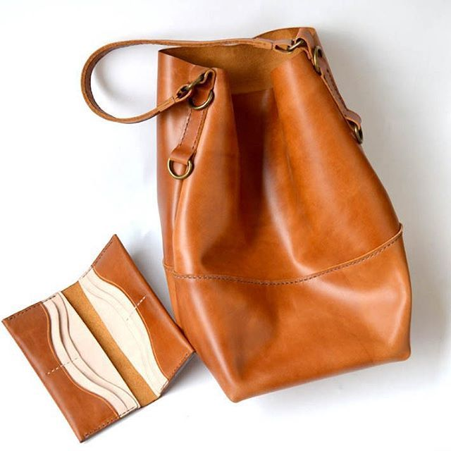 a set of walet and bag, handstitched, leather craft  follow @jollyrogerx on instagram