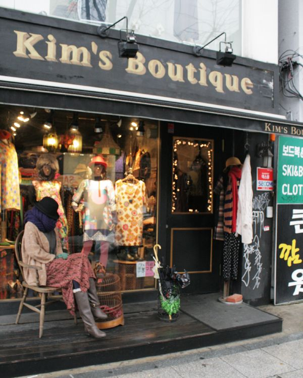 KIM'S BOUTIQUE, ITAEWON, SEOUL. Located on line number 6, exit 4, walk straight for about 10 minutes.