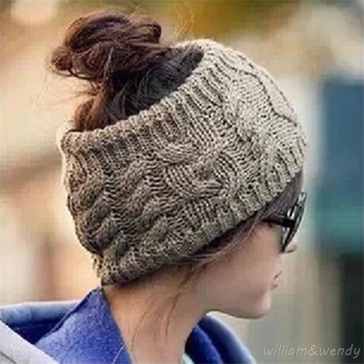 >> Click to Buy << Women No Top Hemp Wool Knitted Head Band New Year Cap With Ear Winter Warm Keeper Stretch Adjustable K-pop Christmas Mom Ski Hat #Affiliate