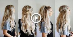 4 Quick Go-To Half Up Styles | Keep Hair Out Of Your Face #hair #hairstyles #bra