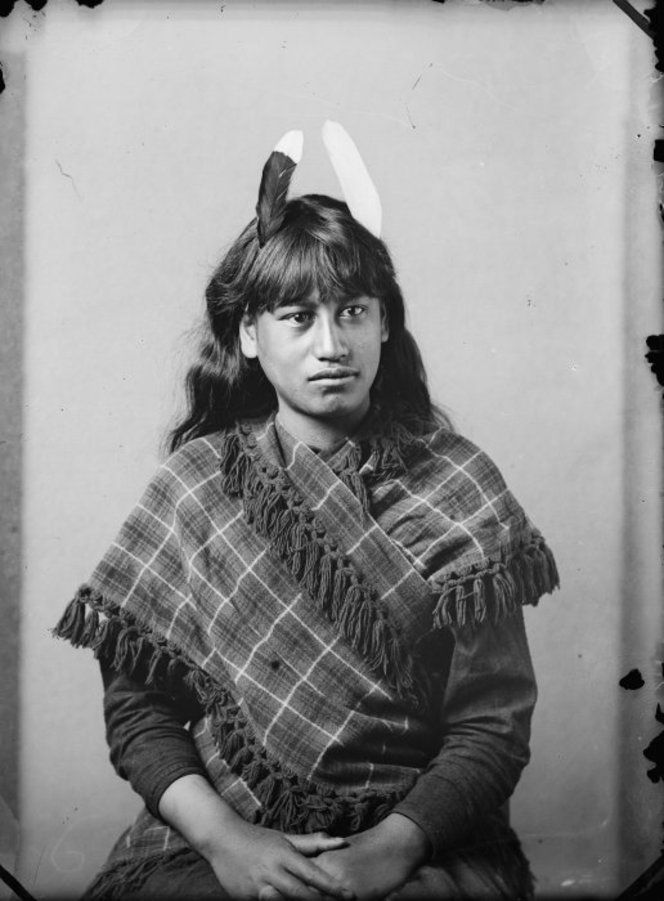 Maori woman from Hawkes Bay district, 1880