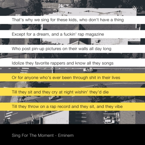 sing for the moment lyrics pdf