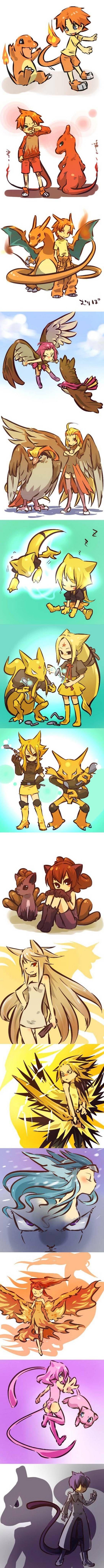 Les dresseurs ressemble à leurs pokemon