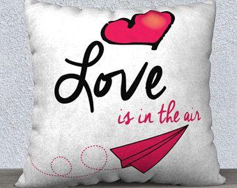 Housse de coussin, L'amour est dans l'air 22x22