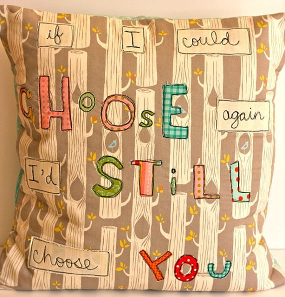 $45- I'd still choose you...: Cute Crafty, Crafts Ideas, Future Sewing, Baby Sewing, Baby Ideas, Crafty Creations, Crosses Stitches, Sconces, Choo You Pillows