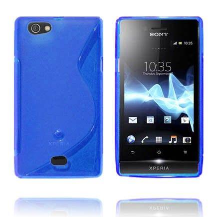 Läpikuultava S-Line (Sininen) Sony Xperia Miro Suojakuori