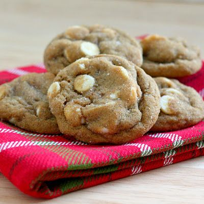 Soft Gingersnap Cookies with White Chocolate Chunks: Kitchens, Soft Gingersnap, White Chocolates, Gingers Cookies, Chocolates Cookies, Chocolates Chunk, Bitchin, Recipes, Gingersnap Cookies