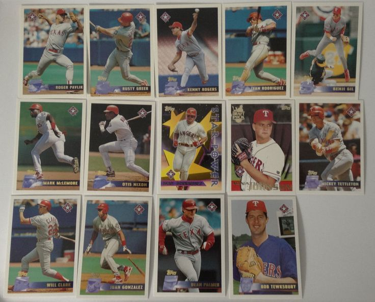 1996 Topps Texas Rangers Team Set of 14 Baseball Cards #topps #TexasRangers