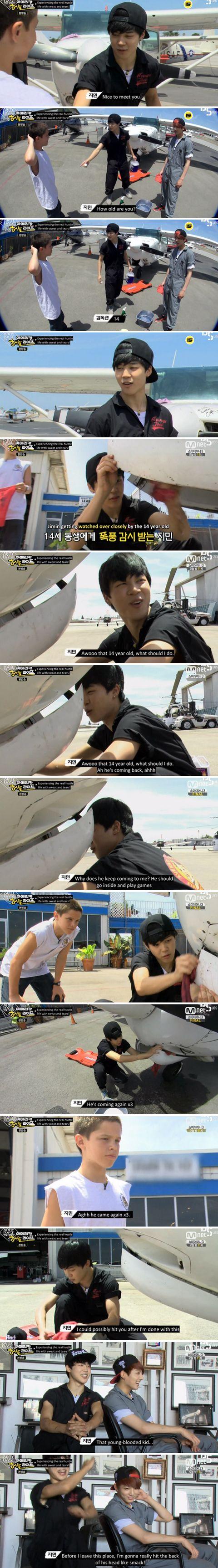 BTS | Bangtan | Jimin | AHL | Credit: ayshxing.tumblr.com/post/127944223771/jimin-was-ready-to-fight-that-kid-that-day