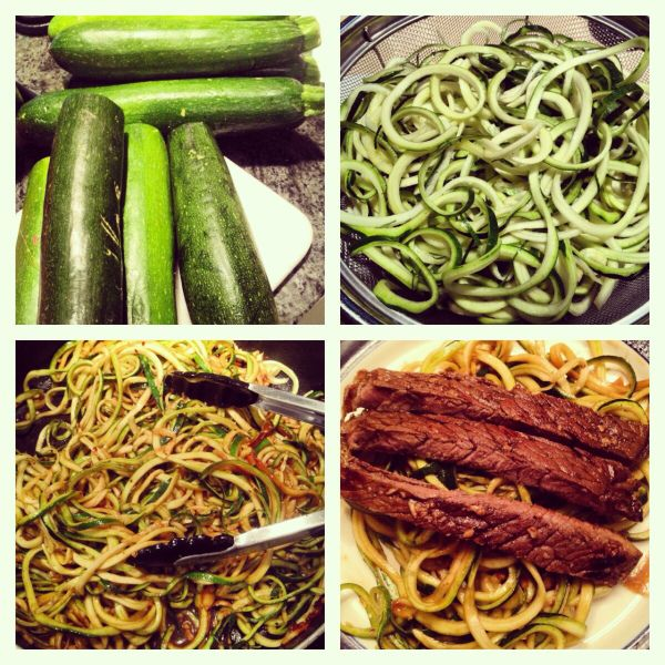 London Broil over Zoodles