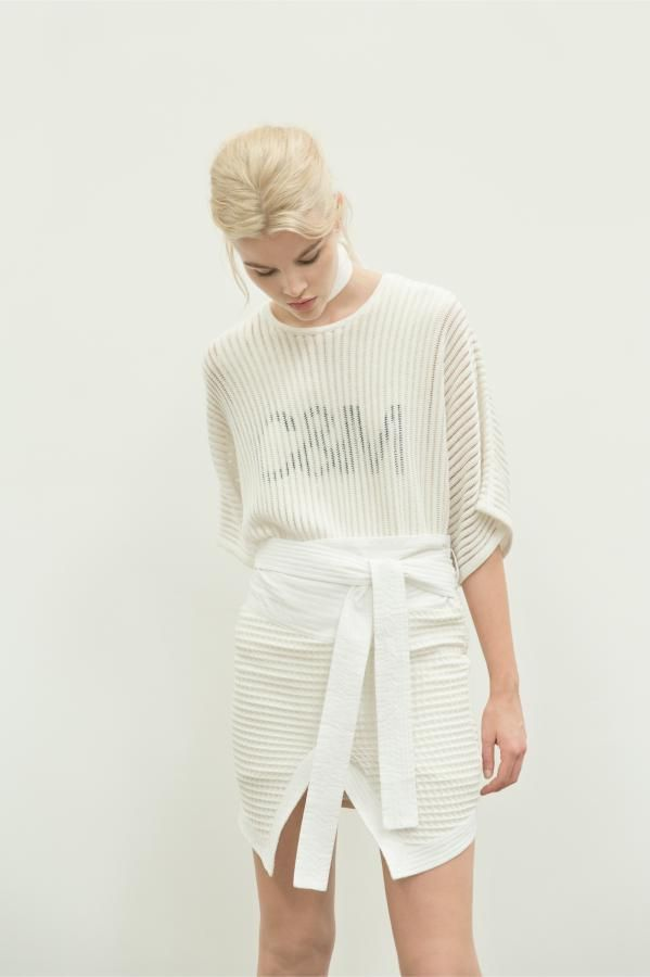 The Rivington Knit Tee and The Jefferson Skirt by C&M CAMILLA AND MARC