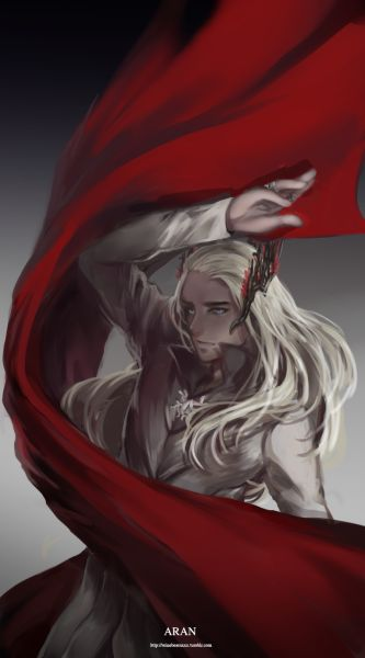"U/////U Finally….I can finish this~ "" Aran "" in Elvish meaning "" King """