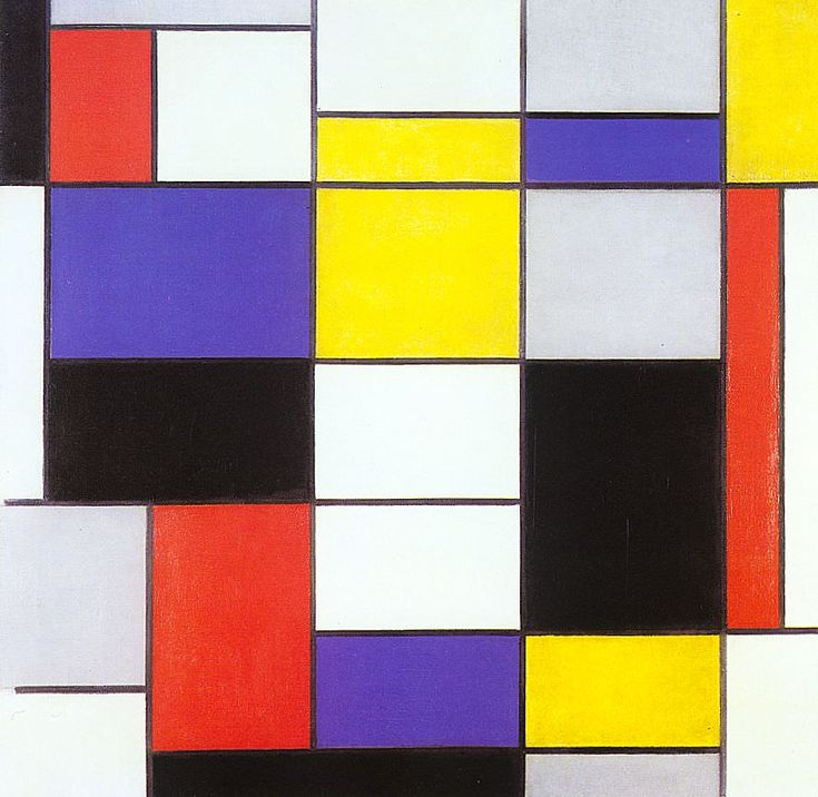 Composition a 1923 - by Piet Mondrian
