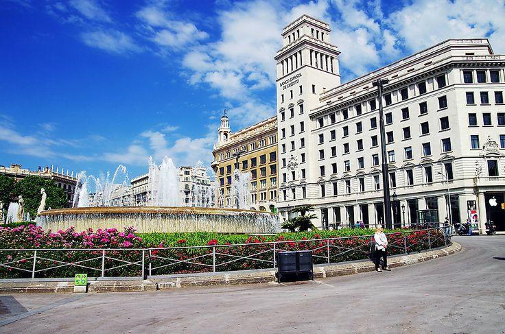 Plaça de Catalunya in Barcelona
