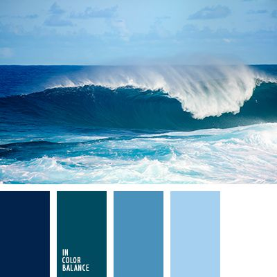 Спокойные, холодные оттенки океанских волн органично будут смотреться в ванной комнате. Такая палитра так же хороша для оформления помещений повышенной влажности.