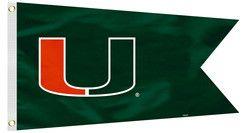 Miami Hurricanes Boat Flag