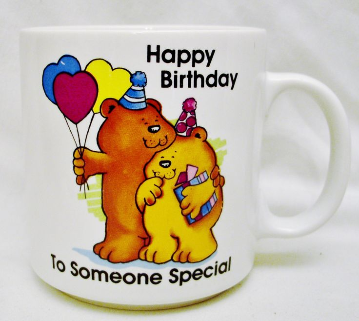 "Russ MUG ""Happy Birthday to Someone Special,"" Item No. 8388-Russ Berrie & Co., Inc. Made in Korea by ELDees on Etsy"