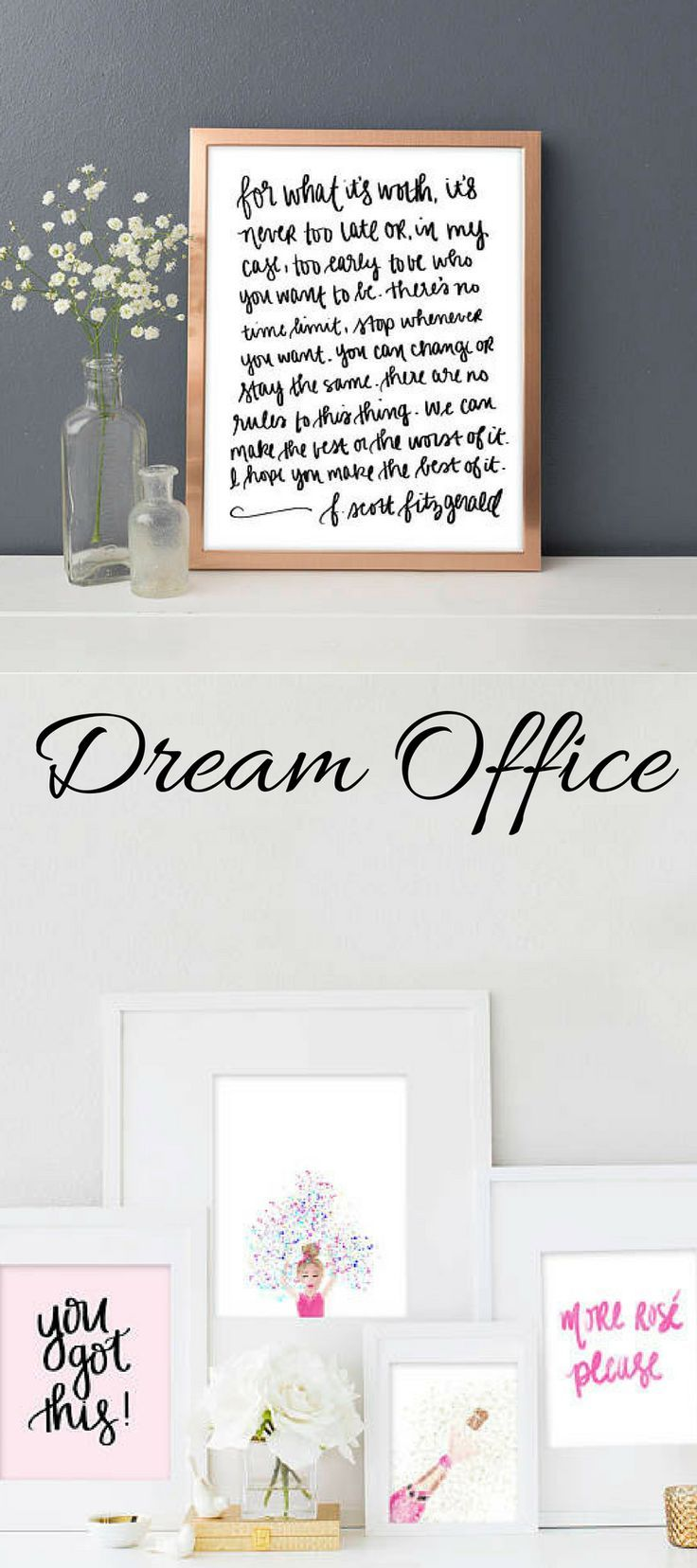 Office space tps report quote - F Scott Fitzgerald For What It S Worth Print Art Office Decor Home Decor Boss Lady Girl Boss Motivational Motivational Quote 15 80 Add A Touch Of