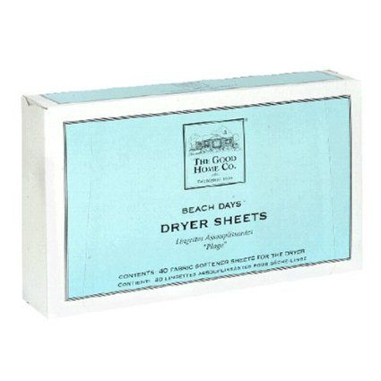 the good home co beach days dryer sheets 40 sheet box health personal care. Black Bedroom Furniture Sets. Home Design Ideas
