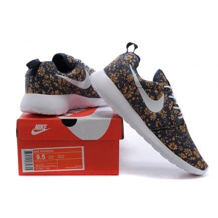 newest collection 2ad83 07c05 Nike Roshe Run Floral Yellow Dark Obsidian Blue White