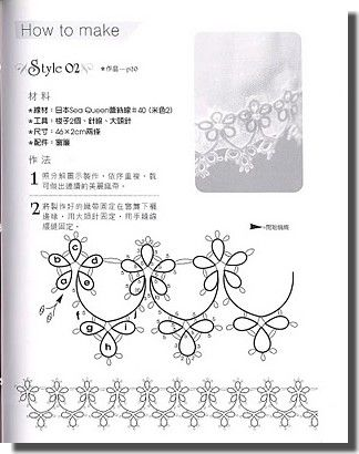 Some nice tatting patterns- not in English but can read some of the numbered diagrams
