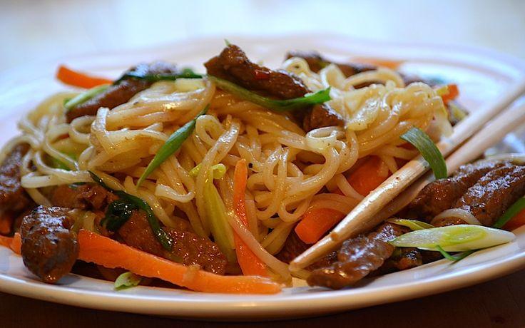 Reteta culinara Noodles cu vita din categoria Vita. Specific China. Cum sa faci Noodles cu vita