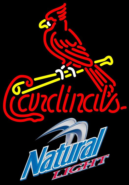 Natural Light St Louis Cardinals MLB Neon Sign 3 0010, Natural Light with MLB Neon Signs | Beer with Sports Signs. Makes a great gift. High impact, eye catching, real glass tube neon sign. In stock. Ships in 5 days or less. Brand New Indoor Neon Sign. Neon Tube thickness is 9MM. All Neon Signs have 1 year warranty and 0% breakage guarantee.